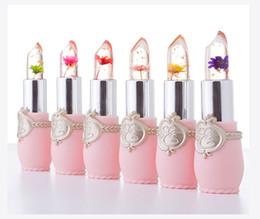 Wholesale Jelly Lipstick - New Long Lasting Moisturizer Transparent Flower Lipstick Cosmetics Waterproof Temperature Change Color Jelly Lipstick Balm