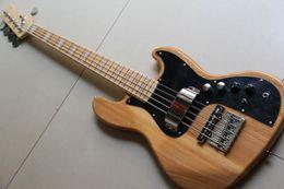 Подпись гитарных звукоснимателей онлайн-Оптовые Burlywood 5 String Marcus Miller Signature с активными датчиками 9V Eletric Bass Guitar, изготовленные из золы в натуральном виде 130315