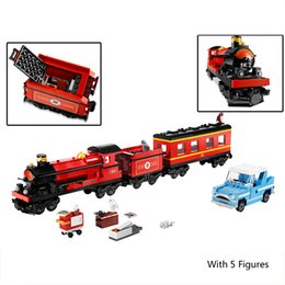 Wholesale Children Classic Movies - Lepin 16031 724Pcs Movie Series Hogwarts Express Train Classic Set Building Blocks Bricks DIY Toys for children Christmas Gifts