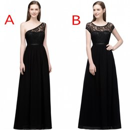 Wholesale sexy long one shoulder dress - 2018 Babyonline Designed New Bridesmaid Dresses A Line Sleeves Floor Length Flow Chiffon Maid of Honor Gowns Evening Dress CPS818 831