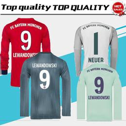 18 19 Bayern munich NEUER 1 JUGADOR JERSEYS DE FÚTBOL JOSE MULLER INICIO GRIS 2018 AWAY TERCER GK MANGA LARGA JERSEY LEWANDOWSKI desde fabricantes