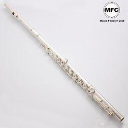 professionelle okarina Rabatt Brand New Japan Beruf Flöte YFL-584 Standard versilbert Student Flöte geschlossen offenes Loch Flöte Modell 17 Löcher