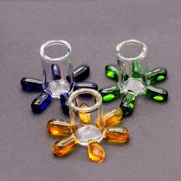 Chiodi online-Volcanee Supporto in vetro colorato Supporto per vetro accessorio fumè all'ingrosso per vetro Tappo in carbonio tappo al quarzo per banger 10mm 14mm 18mm per bong