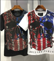Wholesale Brand Designer Tshirts - Summer New Tide Brand Personality Fashion Designer High Quality Short Sleeve Printing Tshirts For Men
