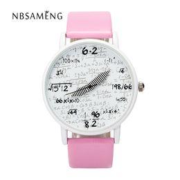 Wholesale Formula Blue - Men Women's Brand Quartz Watch 2017 New Arithmetic Personality Watches Fashion Casual Mathematical Formula Clock LZ2170