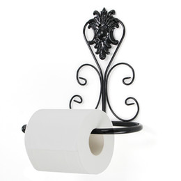 Wholesale Iron Cabinets - Retro Design Iron Kitchen Tissue Holder Hanging Bathroom Toilet Roll Paper Holder Towel Rack Kitchen Cabinet Door Hook