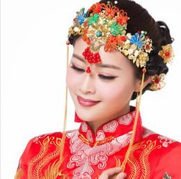 Wholesale Cheongsam Sequin - 2018 new bride headdress costume tassel classical Chinese cheongsam Coronet
