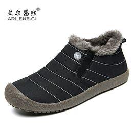 ca680cc677f 2018 Chaussures de marche d hiver pour homme Femmes Garder au chaud Confort  Athlétique Chaussures de sport Jogging en plein air Léger Sneakers Big Size  48 ...