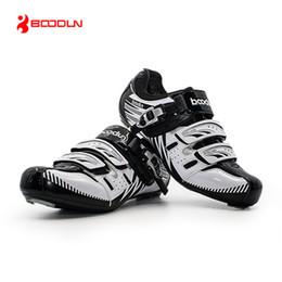 летние велосипедные туфли Скидка Boodun Breathable Mountain Cycling Shoes Summer Leisure Sports Outdoor MTB Road Bike Bicycle Lock Shoes Riding for Men