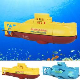 детские игрушки для мальчика Скидка 6CH Mini Multifunction RC подводная лодка для подводного плавания с дистанционным управлением для детей Toy Speedboat Best Gift Led Light