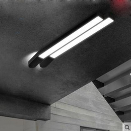 Wholesale Simple Ceiling For Bedroom - Simple personality office ceiling lamp long strip originality LED modern balcony corridor lighting for bedroom living room