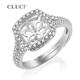 Rabatt Glanzende Silberne Verlobungsringe 2018 Glanzende Silberne