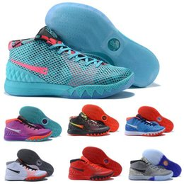 Wholesale I Shoes Boots - Top kyrie Basketball Shoes Sneakers Men Sky Blue China kyries Irving 1 I Celtics Signature Game Athletics Man Tennis Boots Zapatillas Sport