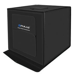 Фото онлайн-60 * 60 * 60см портативная светодиодная фотостудия Light Tent set + 3 фона + диммер + штепсельная вилка EU комплект для фотопечати mini box photo box