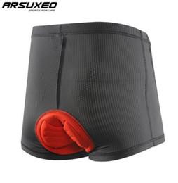 Canada ARSUXEO Respirant Cyclisme Sous-vêtement 3D Rembourré VTT Descente Vélo Vélo Sous-Vêtements Hommes Vélo Compression Shorts supplier arsuxeo bike shorts Offre