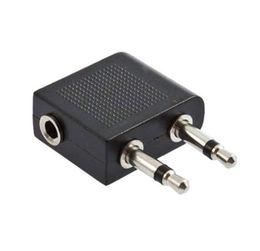 3.5 мм стерео наушники Наушники аудио адаптер разъем для воздуха самолет авиакомпании самолет конвертер адаптеры DHL FEDEX EMS бесплатная доставка от Поставщики горный кронштейн