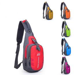 Wholesale Waterproof Nylon Shoulder Bag - Men Women Outdoor Jogging Waterproof Nylon Shoulder Bag Sport Leisure Pockets Chest Bags Unisex Design Crossbody Bag