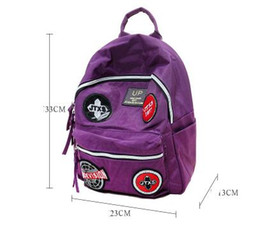 Wholesale korean version canvas backpack - JTXS denim backpack women's Korean version of the badge college wind handbag Sen Department students bag Joker backpack