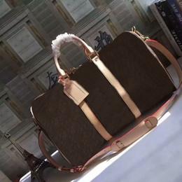 Wholesale Duffle Gym - Top quality Women KEEPALL Handbags REGATTA VOYAGER travel bag weekend duffle bag CX#56 Carry On GYM bag 55cm handbag M41414 With Straps