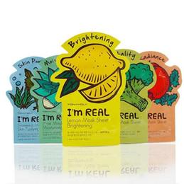 Masque de feuille de corée en Ligne-Tonymoly je suis VRAI Visage Masque Feuille Corée Du Visage Soins Hydratant Soins de La Peau Aloe Vera Poudre Masque Visage DHL Livraison Gratuite