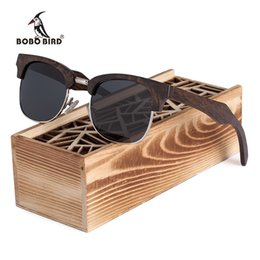 f0e72b74362af sol do pássaro Desconto Bobo bird marca preto madeira óculos de sol das  mulheres dos homens
