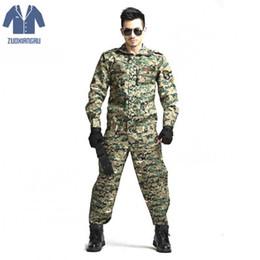 2019 combinaison de combat tactique Armée cs camouflage uniforme tactique jungle costume camouflage soldat tactique veste de combat ensemble de vêtements combinaison de combat tactique pas cher