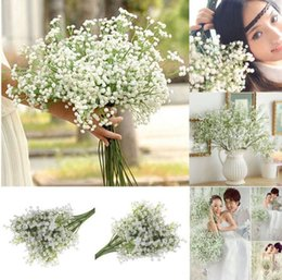 Wholesale Gypsophila Plant - Artificial Gypsophila Flower Fake Silk Wedding Party Bouquet Home Decor Fake Babys Breath Gypsophila Plant KKA5194