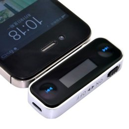 Wholesale Iphone Display Black - Top Wireless Car FM Transmitter Modulator Car Mp3 Player LCD Display 3.5mm Wire For iPhone 4 5 6 iPod Smartphones+Free Shipping