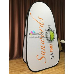 Wholesale Banner Pop Ups - Printed Spring Pop up A-Frame Vertical Banner Event Promotion Display, Outdoor POP Out A Frame Advertising Banner with Double Side Printed