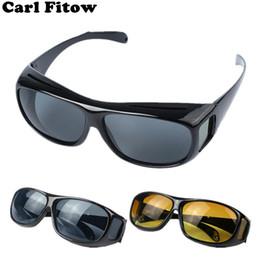Hd солнцезащитные очки ночного видения онлайн-Высокое качество вождения HD ночного видения желтые линзы солнцезащитные очки водитель безопасности солнцезащитные очки Очки тип стекла новый