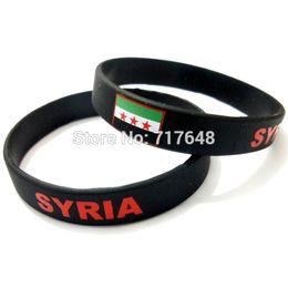 Wholesale Silicone Rubber Wristband Cuff Bracelet - 300pcs a lot SYRIA wristband silicone bracelets rubber cuff wrist band bangle free shipping by FEDEX express