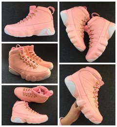 Wholesale Womans Sports - 2017 New air Retro 9 IX Women Basketball Shoes Pink Athletics Sneakers Womans Boots Trainers Retros 9s Basket ball Sport Shoes 36-40