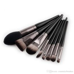 Wholesale hair brusher - Mybasy 8pcs Professional Makeup Brushes Set Foundation Blending Brush Tool Cosmetic Kits Makeup Set beauty essentials makeup brusher