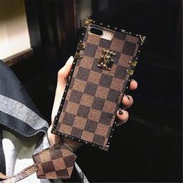 2019 celular bling atacado 2018 marca de moda de luxo designer sacos de telefone case para iphone xr xs max x 8 7 6 splus tampa traseira tpu treliça padrão case