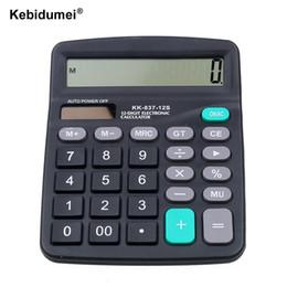 moda financeira Desconto 2em1 solar pôs a ferramenta comercial do escritório portátil moderno da calculadora eletrônica de 12 dígitos com botão grande