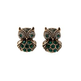 Wholesale america cool - Cute Diamond Owl Earrings Pendant Character Wild Cool High-end Jewelry Europe and America Fashion Temperament Earrings Women Gift Wholesale
