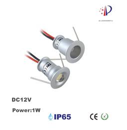 1W Mini proyector empotrable, luz de techo LED DC12V, 15mm recorte 30D / 120D Downlight pequeño, 18pcs luz de decoración de gabinete desde fabricantes