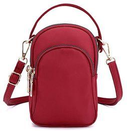 Маленькие сумочки для сотовых телефонов онлайн-Унисекс сотовый телефон кошелек небольшой Crossbody сумка смартфон бумажник Держатель телефона Мини-сумка для женщин девочек и мужчин