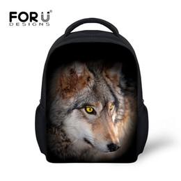 mochilas al por mayor para niños pequeños Rebajas Venta al por mayor Bolso de la escuela de los niños 3D Impresión lobo Mochilas Niños para Kindergarten Mochila Niños Preescolar Mochila Bolsas para niños pequeños