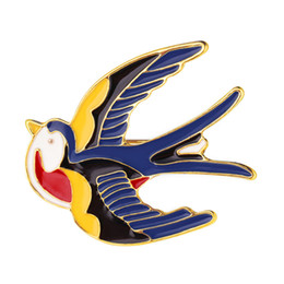 Wholesale Party Decorations Engagement - U7 Bird Brooch Pin &High Quality Enamel Daily Wedding Decoration Pin Gift For Women Flying Swallow Brooch B2718K