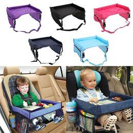 5-color bebek çocuk araba emniyet kemeri seyahat oyunu tepsi su geçirmez katlanır masa bebek araba koltuğu at programı araç buggy bebek araba aperatif nereden araç gereçleri tedarikçiler