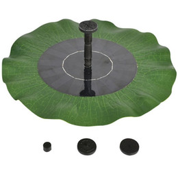 Wholesale outdoors fountains - Solar Energy Fountain Outdoors Waterproof Garden Style Scenery Courtyard Water Pumps Lotus Leaf Shape Fountains Float Eco Friendly 55rh jj