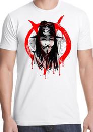 464644fadc8e 2018 New Men s T Shirt Crew Neck Men Short-Sleeve v for vendetta t shirt  film cult freedom political guy fawkes