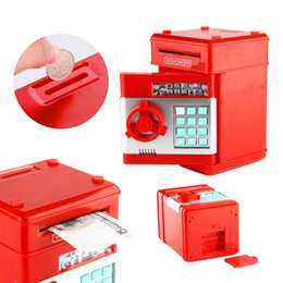 Wholesale Money Piggy Bank Toys - Electronic Piggy Bank Toy Digital Coins Cash Deposit Money Box Mini Password ATM Machine Novelty & Gag Toys For Kids Children
