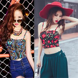 2232349ef3948 Women Tops Summer 2018 Off Shoulder Top Cropped For Spaghetti Strap Bra  Bustier Corsets Vest Camisole Tube Tanks Navy Blue White woman corset top  straps ...