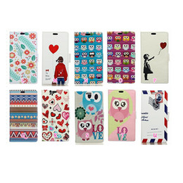 Wholesale Leather Mail - For Sony XZ2,Compact For MOTO G6 Fashion Cartoon Wallet Leather Case Mail Heart Lover Owl Lover Jean Feather Flower Flip Covers PU Pouch