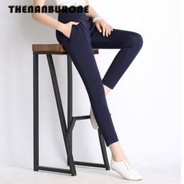 THENANBURONE 2018 Mujeres del verano de cintura alta Stretch Pant Ladies  Loose Harem Pantalones Mujer Casual Big Size 6XL Negro Pantalones de  oficina ... 4907b3993f6a