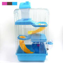 Cages à rats en Ligne-Vente chaude Marchandises recommandées grandes Cages luxe pour Hamsters Transport Super Hamster Cage Accessoires en plastique Cobayes Maison
