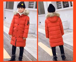 chicos grandes chaqueta abajo Rebajas NIÑOS Adolescentes Niños Diseñadores de ropa Chaqueta de plumón largo Versión coreana del gran MAO Collar Nuevos modelos medianos y largos Con mucho estilo
