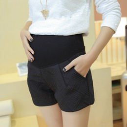 f1d64583b8693 High quality European and American style pregnant women black belly shorts  maternity plus size elastic waist short trousers nice